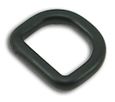 3/4-Inch-Wide Black D-Rings