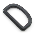 1-1/2-Inch-Wide Black D-Rings