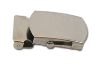 METAL MILITARY BUCKLE 1 INCH-WIDE SILVER Single Pieces