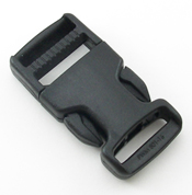 SINGLE-ADJUSTING MADE IN USA SIDE-RELEASE BUCKLES 1 INCH-WIDE BLACK