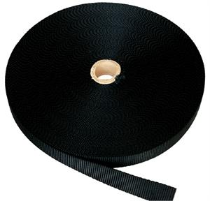 FLAT NYLON WEBBING 1 INCH-WIDE BLACK