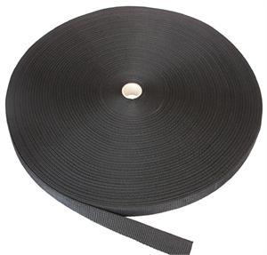 REGULAR-WEIGHT POLYPROPYLENE WEBBING 1-1/4 INCH-WIDE BLACK Wholesale