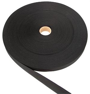 THIN NYLON WEBBING 1 INCH-WIDE BLACK Wholesale