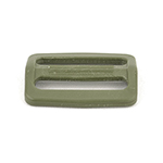 Plastic Single-bar Slides (1a) 1-1/2 Inch-wide Olive Drab By-the-bag