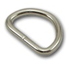 B-DR-02 0750 Silver Metal D-Ring