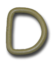 METAL D-RINGS 8-GAUGE WELDED 1 INCH-WIDE COYOTE
