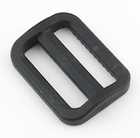 Plastic Single-bar Slides 1 Inch-wide Black By-the-bag