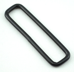 Metal Rectangular Loops 2 Inch-wide Black Single Pieces