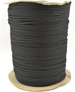 Parachute Cord Nylon 550 Paracord Black With Core By-the-spool