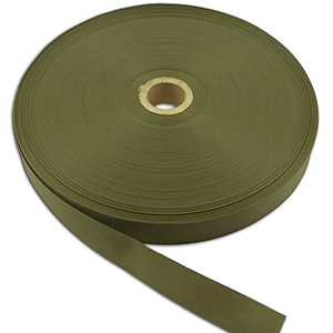 Commercial Nylon Grosgrain Binding 1 Inch-wide Olive Drab By-the-roll