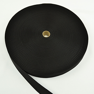 Polypropylene Webbing Light-weight Herringbone 1-1/4 Inch-wide Black By-the-roll